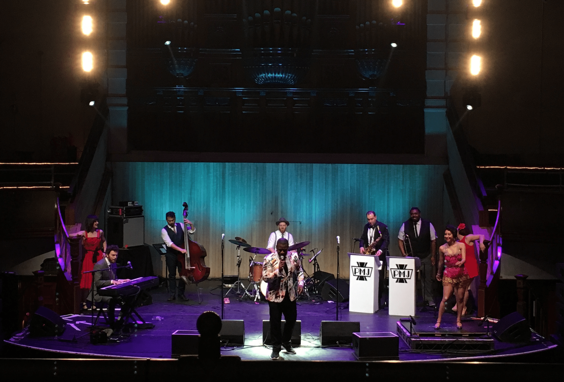 Scott Bradlee's Postmodern Jukebox performing at Albert Hall on 3 March 2016.