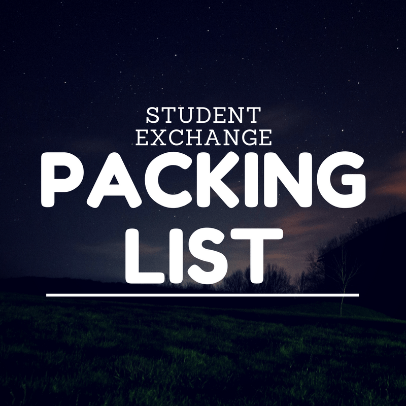 Student Exchange Programme (SEP) Packing List