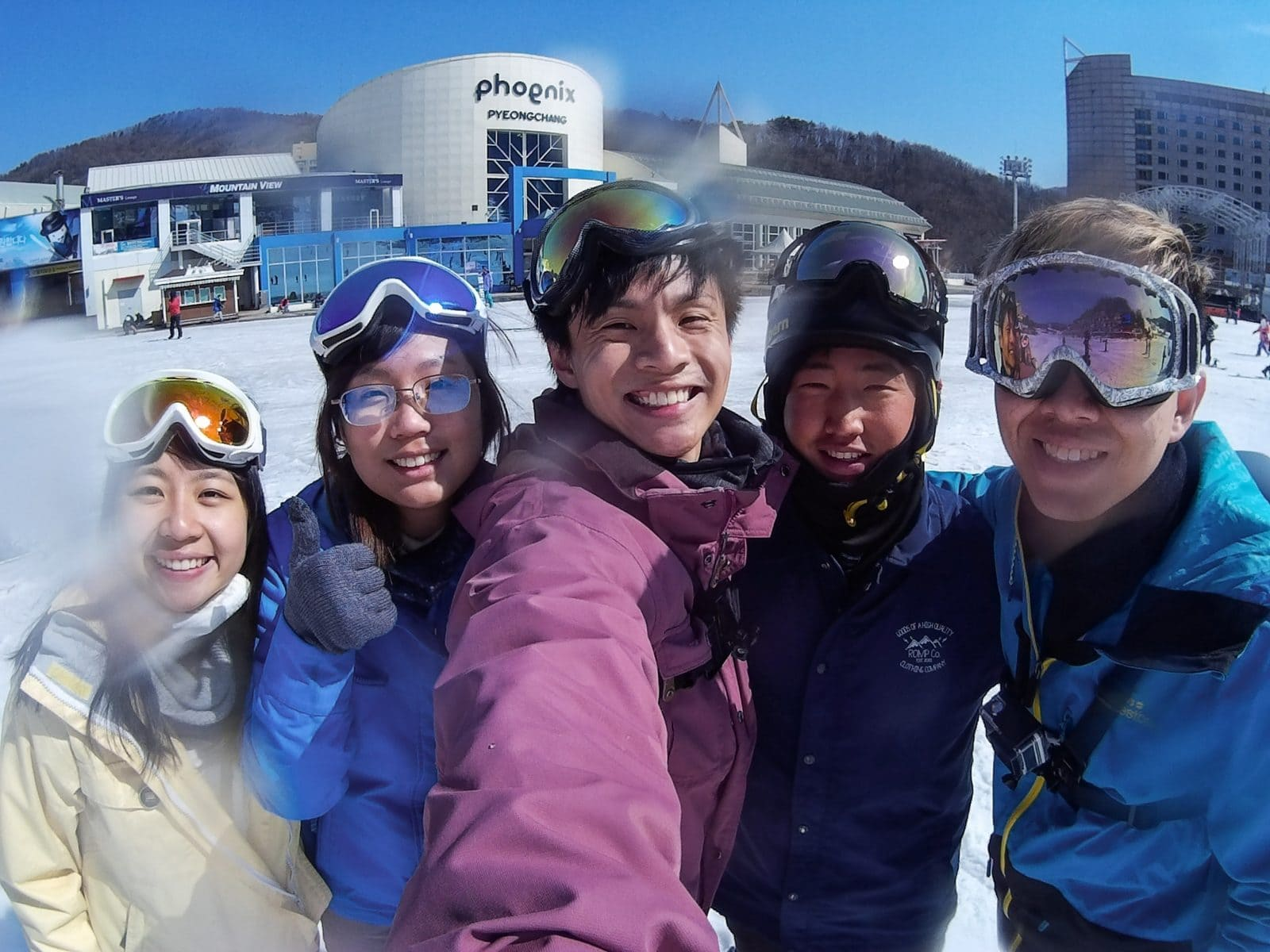 planning a ski trip selfire